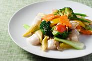 北海道ホタテ貝柱の野菜炒め
